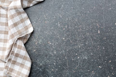 Checkered tablecloth over kitchen table. Checkered tablecloth over old kitchen table Stock Images