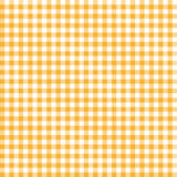 Checkered tablecloth pattern ORANGE- endlessly Royalty Free Stock Photography