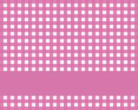 Checkered tablecloth with stripe purple white. Checkered tablecloth pink and white with stripe for text Stock Photo