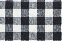 Checkered tablecloth. Res color black  and white background texture Stock Image