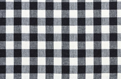 Checkered tablecloth. Res color black  and white background texture Stock Photos