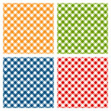 Checkered tablecloth seamless pattern, diagonal Royalty Free Stock Images