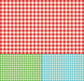 Checkered tablecloth seamless pattern Stock Photography