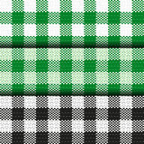 Checkered tablecloth seamless pattern. Square Pattern Cloth set Stock Photography