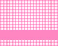 Checkered tablecloth with stripe pink white. Pink and white checkered tablecloth background with stripe vector illustration