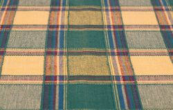 Checkered tablecloth texture stock photography