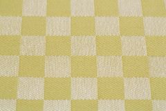 Tablecloth background. Checkered tablecloth texture as a background, closeup picture Royalty Free Stock Photo