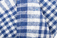 Checkered tablecloth texture. Blue background Royalty Free Stock Images