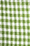 Checkered tablecloth texture Stock Photos
