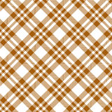Checkered tablecloths pattern brown - endless Royalty Free Stock Photography