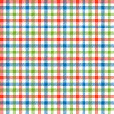 Checkered tablecloths pattern colorful - endlessly Royalty Free Stock Image
