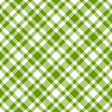 Checkered tablecloths pattern green - endlessly. Endless green checkered table cloths pattern vector Royalty Free Illustration