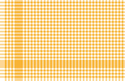 Checkered tablecloths pattern yellow Royalty Free Stock Image