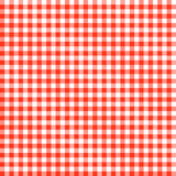 Checkered tablecloths patterns RED - endlessly Stock Image