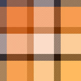 Checkered tartan fabric seamless pattern in beige and orange, vector Royalty Free Stock Photography