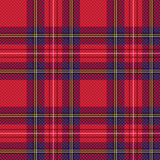 Checkered tartan fabric seamless pattern Stock Photo