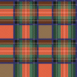 Checkered tartan fabric seamless texture Royalty Free Stock Photos