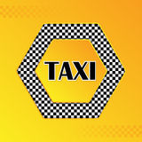 Checkered taxi background with text in center Stock Photos