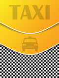 Checkered taxi brochure with silhouettes Royalty Free Stock Image