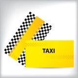 Checkered taxi business cards Stock Photos