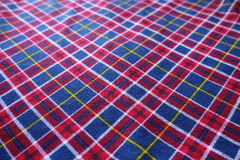 Checkered textile in red, navy and white Stock Photography