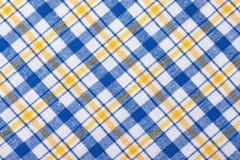 Checkered Textilhintergrund Lizenzfreie Stockbilder