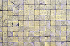 Checkered texture. Old checkered texture, bathroor floor Royalty Free Stock Images