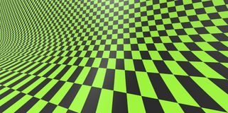 Checkered texture 3D background pattern in perspective Royalty Free Stock Image