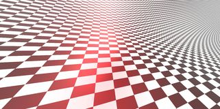Checkered texture 3D background pattern in perspective. Render of Checkered texture 3D background pattern in perspective Stock Images