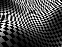 Checkered Texture Dark Wave Surface Background Stock Images
