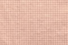 Checkered texture paper or material and fabric of pale brown color Stock Images