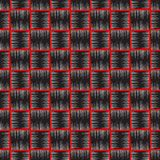 Checkered textured embroidery style vector seamless pattern. Geometric plaid tartan tapestry background. Grunge geometrical repeat. Backdrop. Hatched wicked stock illustration