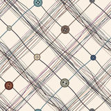 Checkered threads pattern Stock Image