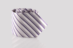 Checkered tie. Close up on white background Stock Photos