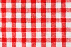 Checkered Tischdecke stockbilder