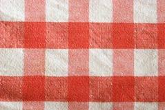 Checkered Tischdecke lizenzfreies stockfoto