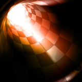 Checkered tunnel. Abstract Checkered tunnel, computer illustration Stock Photography