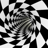Checkered tunnel, 3D Royalty Free Stock Image