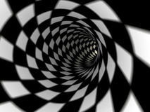 Checkered tunnel, 3D Stock Images