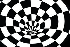 Checkered vortex in black and white royalty free illustration