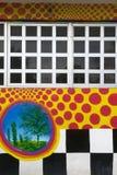 Checkered Wall & Windows Royalty Free Stock Photo