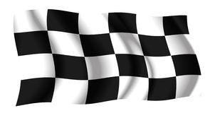 Checkered waving flag Stock Image