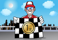 Checkered winning race flag Royalty Free Stock Photography