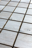 Checkered wood pattern. rustic grey wooden natural textured back Stock Image