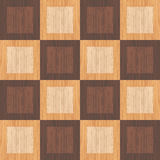 Checkered wooden pattern Stock Image