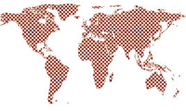 Checkered world map Royalty Free Stock Photo