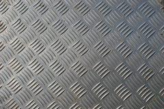 Checkerplate dell'acciaio inossidabile fotografia stock libera da diritti