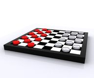 Checkers - 3D Stock Image