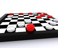 Checkers - 3D Royalty Free Stock Images