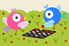 Checkers for the birds Royalty Free Stock Images
